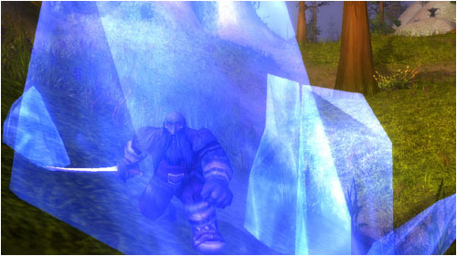 Dark Iron insurgent trapped in ice