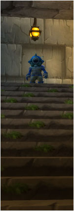 Gnome soldier in the stairwell
