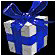 Blue ribboned gift