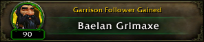 Follower gained: Baelan Grimaxe
