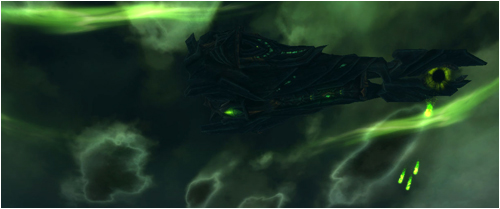 Legion ship fires upon Tarren Mill