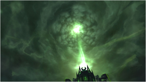 The skies above the Tomb of Sargeras