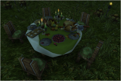 Pilgrim's Bounty table