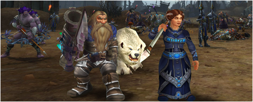 Ringo and Beli preparing to attack Lordaeron alongside Alliance troops